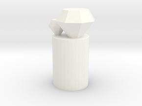 Diamonds Pencil topper in White Processed Versatile Plastic