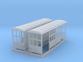 British N Gauge (1/148) Medium Platform Shelter Cl in Frosted Ultra Detail