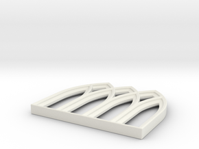 28mm Scale Gothic Window Frame for MDF in White Strong & Flexible