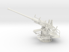 1/16 USN 40mm Single Bofors (Elevated) in White Natural Versatile Plastic