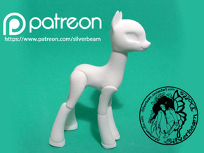 Celestia BJD Base Small: Earth Type in White Natural Versatile Plastic