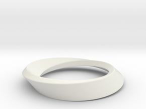 Mobius Large in White Natural Versatile Plastic