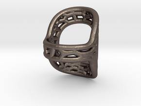 RingSplint US Size-5 in Polished Bronzed Silver Steel