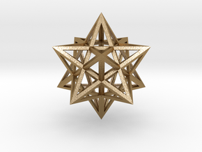 Stellated Dodecahedron in Polished Gold Steel