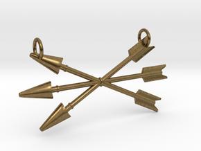 Arrows Pendant in Natural Bronze