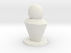 Pion 2cm base in White Natural Versatile Plastic