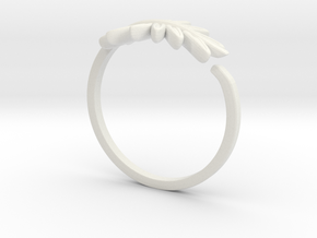 Friendship Leaf Rings in White Strong & Flexible