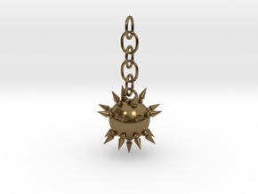 Flail Ball Earring in Polished Bronze (Interlocking Parts)