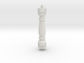 Baluster Root3 in White Natural Versatile Plastic