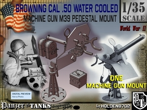 1/35 Cal 50 WC Pedestal Mount M39 in Smooth Fine Detail Plastic