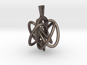 Knot-leaf-mirror in Polished Bronzed Silver Steel
