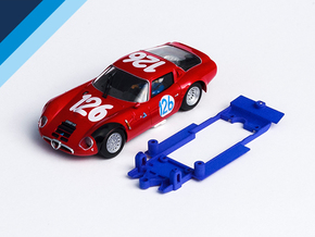 1/32 Fly Alfa Romeo TZ2 Chassis for Slot.it pod in Blue Processed Versatile Plastic