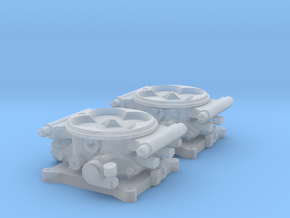 1/24 FAST 1000 Throttle Body 4bbl Fuel Injection in Frosted Extreme Detail