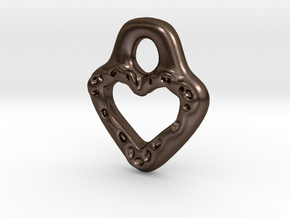 Lacey Heart in Polished Bronze Steel