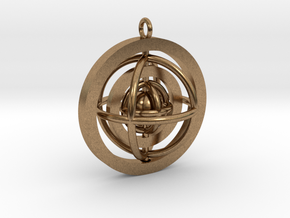 Rotating planet in Natural Brass (Interlocking Parts)