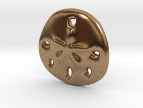 Sandollar Charm in Natural Brass