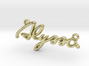 ALYSSA Script First Name Pendant in 18k Gold Plated Brass