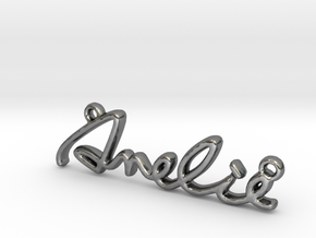 AMELIE Script First Name Pendant in Fine Detail Polished Silver
