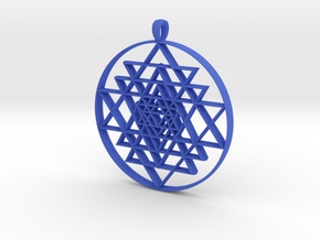 Sri-Yantra in Blue Processed Versatile Plastic