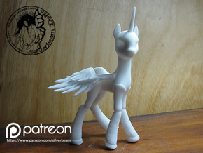 Pony Celestia Small: alicorn type  in White Natural Versatile Plastic