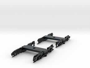 R32 N Scale Trucks for Subway Car 1pr in Black Hi-Def Acrylate