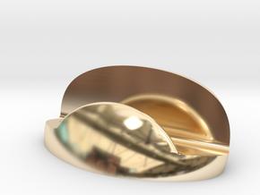 Business Card Holder V1 in 14k Gold Plated Brass