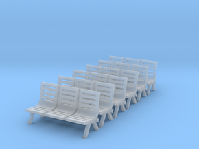 Modern Seat - Type 2 X 6 - N Scale in Smooth Fine Detail Plastic