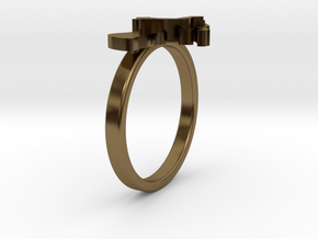 Mother-Son Ring - Motherhood Collection in Polished Bronze: 4.5 / 47.75