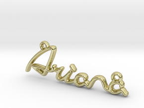 ARIANA Script First Name Pendant in 18k Gold Plated Brass