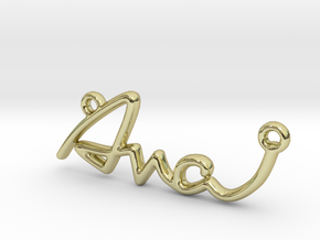 AVA Script First Name Pendant in 18k Gold Plated Brass