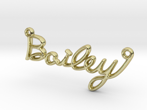 BAILEY Script First Name Pendant in 18k Gold Plated Brass