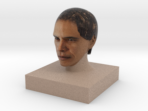 Obama in Full Color Sandstone