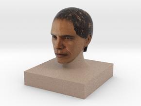 Obama in Full Color Sandstone
