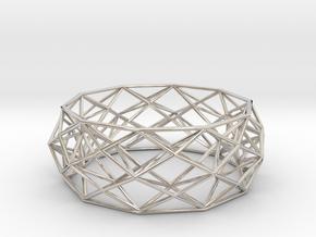Constructionist Bracelet  in Platinum