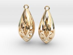 Teardrop shaped earrings in 14K Yellow Gold
