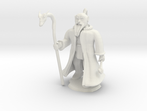 Dwarven Wizard in White Natural Versatile Plastic