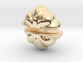 Fairytale Pumpkin Stud Earrings in 14k Gold Plated Brass
