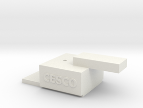 HO-On30 Coupler Gauge in White Natural Versatile Plastic