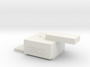 Sn3 Coupler Gauge in White Natural Versatile Plastic