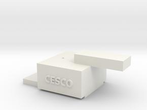 On3 Coupler Gauge in White Natural Versatile Plastic
