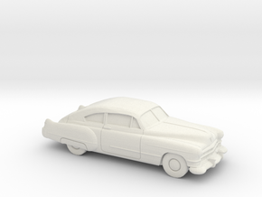 1/87 1949-52 Cadillac Series 62 Fastback in White Natural Versatile Plastic