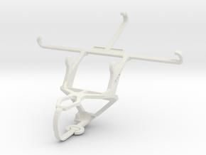Controller mount for PS3 & Asus Zenfone 3 Laser ZC in White Natural Versatile Plastic