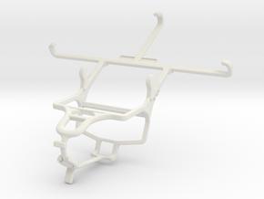 Controller mount for PS4 & Asus Zenfone 3 Laser ZC in White Natural Versatile Plastic