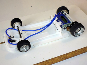 Slot car chassis for GT40 (IW) 1/28 in White Natural Versatile Plastic