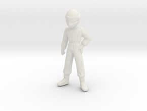 1/43 Young Racing Driver (1.56 m) in White Natural Versatile Plastic