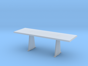 Miniature Trapeze Table - Jean Prouve in Smooth Fine Detail Plastic: 1:48