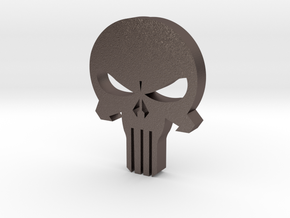 Punisher Skull in Polished Bronzed Silver Steel