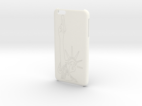 iPhone 6+ Plus - Lady Liberty Case in White Processed Versatile Plastic
