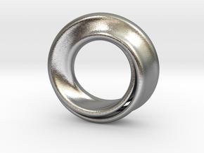 Mobius Strip in Natural Silver