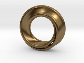 Mobius Strip in Natural Bronze